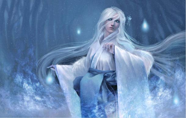 white-haired-Yuki-onna